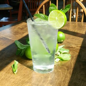 "Mint lime simple syrup is the secret ingredient to this ""Modest Mojito"" recipe"