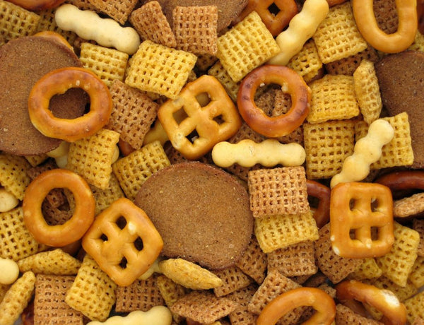 Homemade Chex Mix can be made vegan with Culinarie Kit ingredients