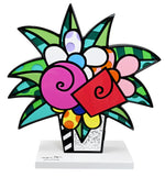 FLOWERS FOR YOU - White Base - Wood Sculpture - Artist Proof Edition