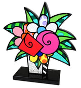 FLOWERS FOR YOU - Black Base - Wood Sculpture - Artist Proof Edition