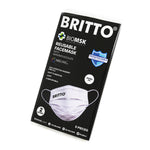 Limited Edition - 2 Layer Face Mask - 2 Layer BRITTO (WHITE) 5-PACK