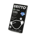 Limited Edition - 2 Layer Face Mask - BRITTO (BLACK) 5-PACK
