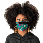 FACE MASK - FLOWERS NEW (TEAL) 5-PACK - *LIMITED TIME SPRING BREAK OFFER*
