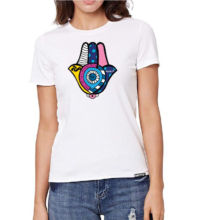 Limited Edition - Premium 100% Organic Cotton Hamsa T-Shirt (Women)