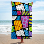 Limited Edition - BEACH TOWEL - COLORFUL LANDSCAPE