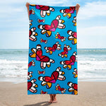 Limited Edition - BEACH/POOL TOWEL FLYING HEARTS