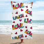 Limited Edition - BEACH/POOL TOWEL - LIVE LOVE LAUGH