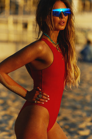 THE CONTOUR BODYSUIT - RED