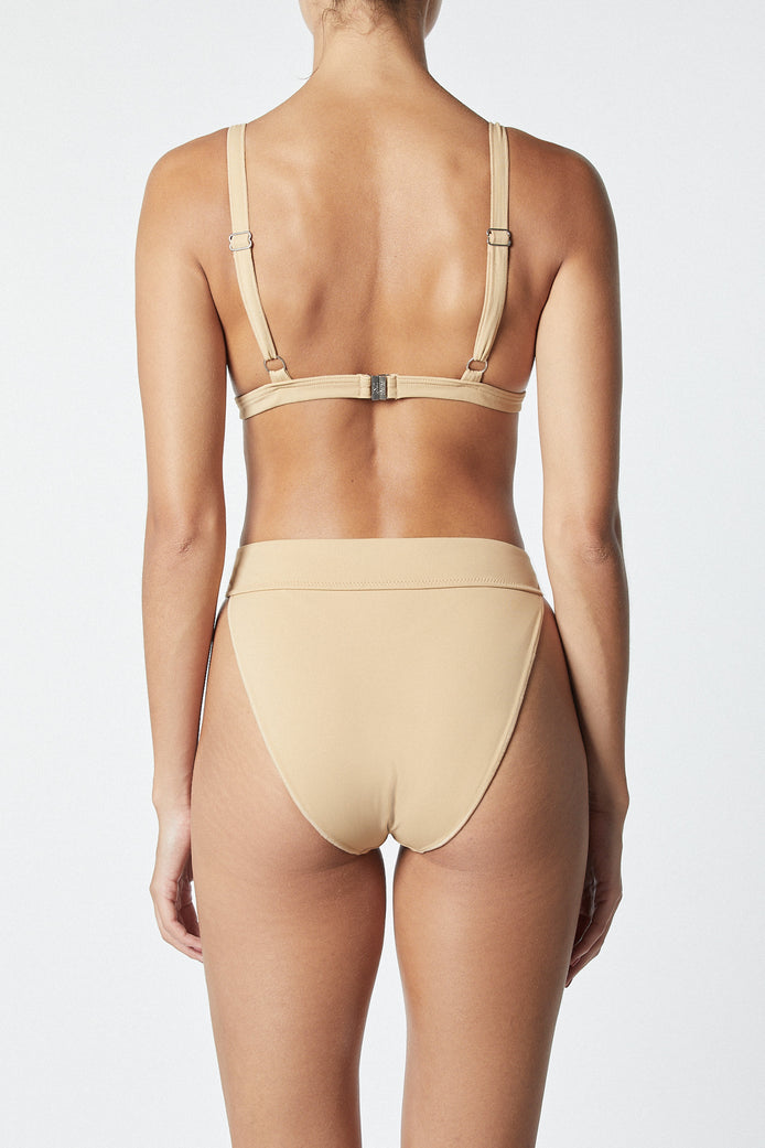 THE CONTOUR BIKINI TOP - MOCHA