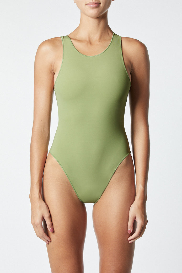 THE CONTOUR BODYSUIT - OLIVE