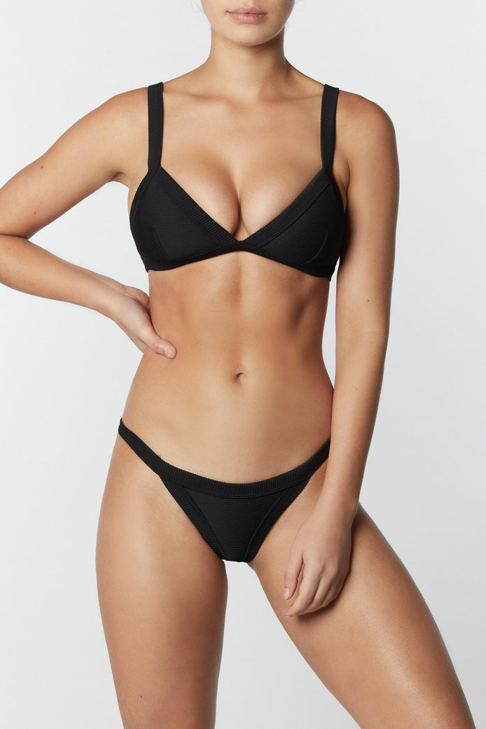 THE FRAME BRALETTE - BLACK RIB