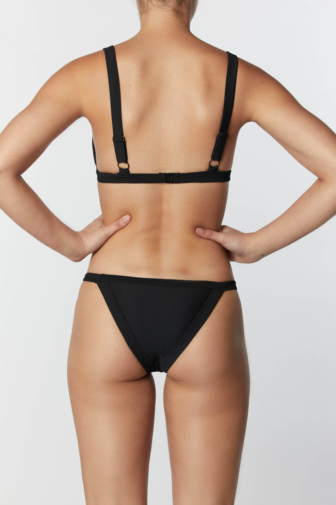 THE FRAME SKIMPY PANT - BLACK RIB