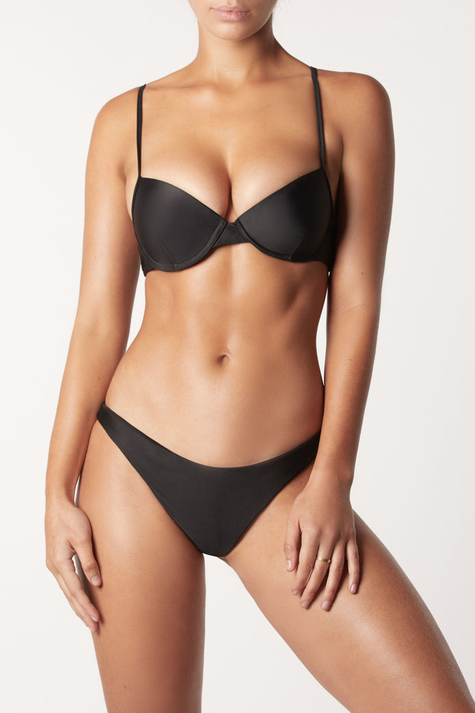 THE PUSH UP TOP - BLACK