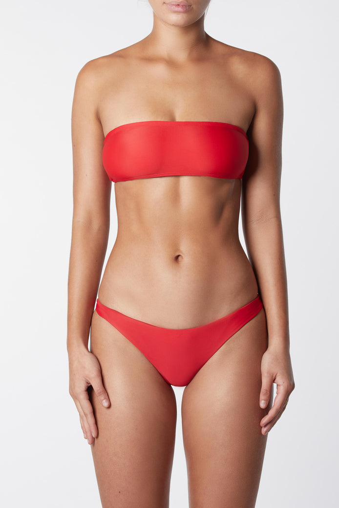 THE BANDEAU TOP - RED
