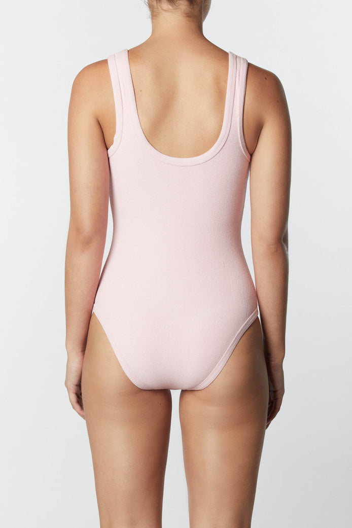THE 90'S ONE PIECE - PASTEL PINK TERRY