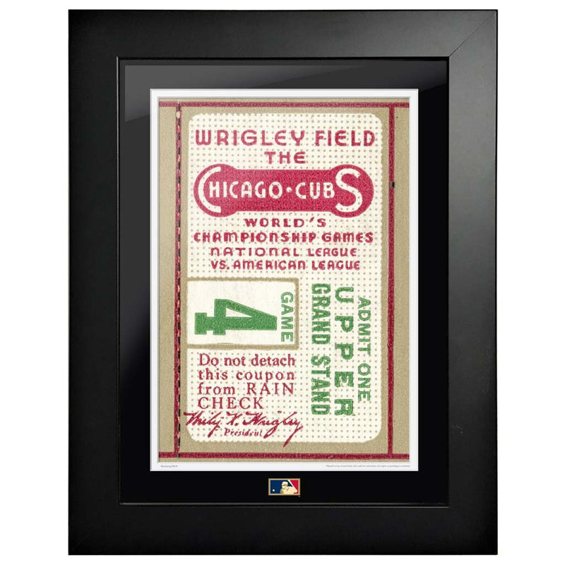 "12""x16"" World Series Ticket Framed Chicago Cubs 1935 G4C"