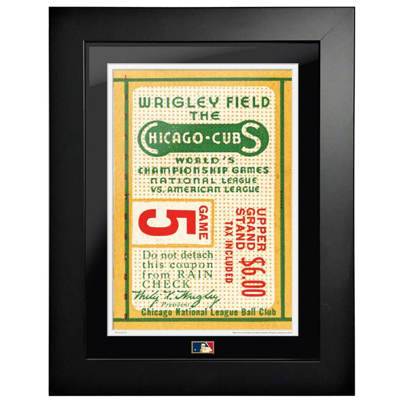 "12""x16"" World Series Ticket Framed Chicago Cubs 1945 G5C"