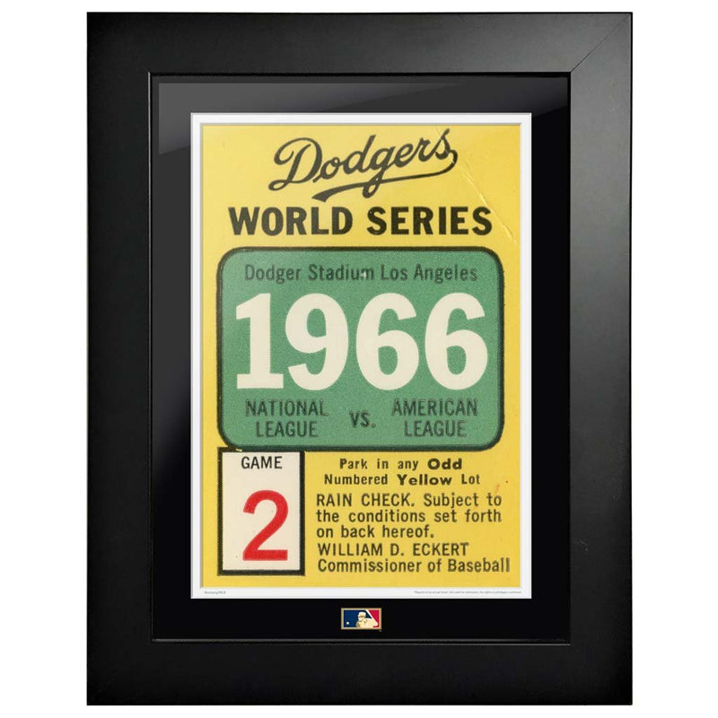 "12""x16"" World Series Ticket Framed Los Angeles Dodgers 1966 G2L"