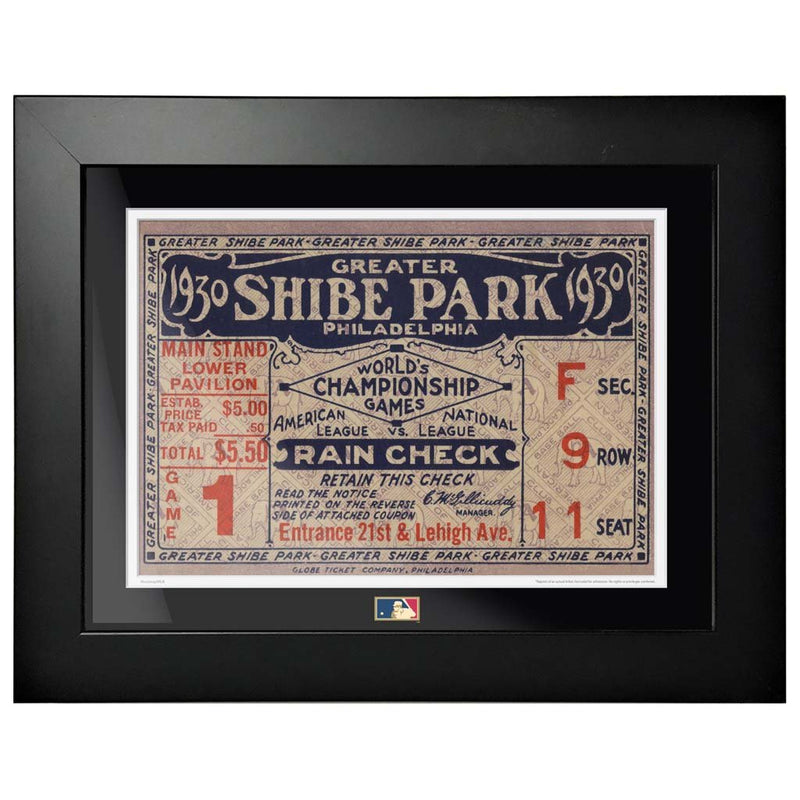 "12""x16"" World Series Ticket Framed Philadelphia Phillies 1930 G1R"
