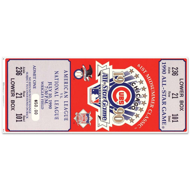 "48"" Repositional All Star Game Ticket - Chicago 1990"