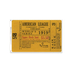 "Chicago White Sox 1919 Game 3 World Series Ticket 48"" Repositional Vinyl"