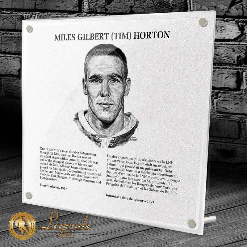 1977 Tim Horton - Legends Plaque
