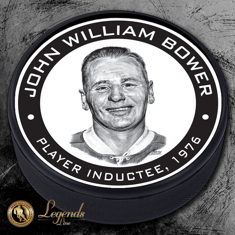 1976 Johnny Bower - Legends Textured Puck