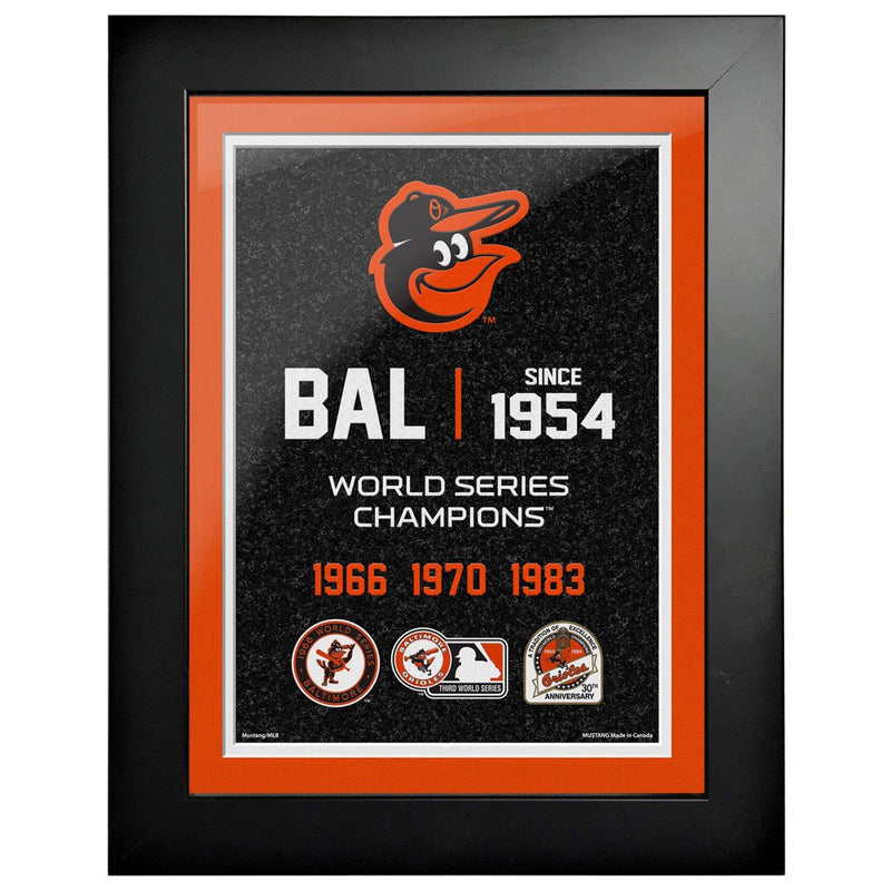 Baltimore Orioles 12x16 World Series Empire Frame