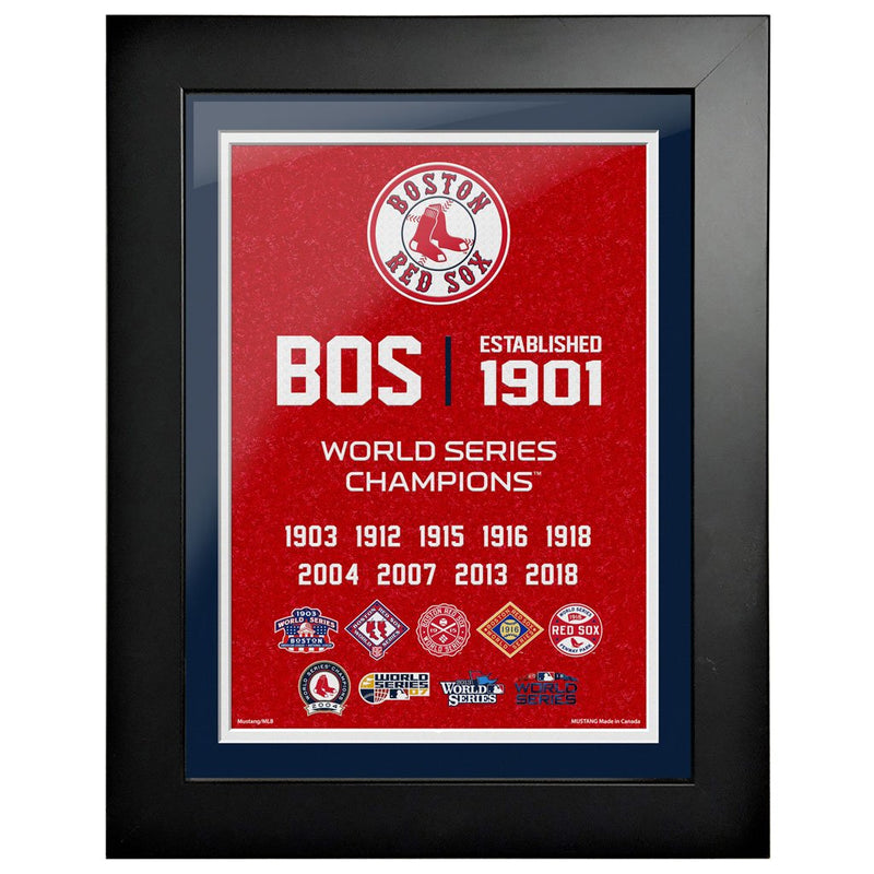 Boston Red Sox 12x16 World Series Empire Frame