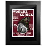"12""x16""  Detroit T., Cincinnati Reds World Series Program Cover 1940"