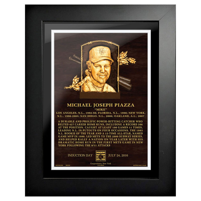 "Mike Piazza Legend 12""x16"" Framed Art New York Mets"