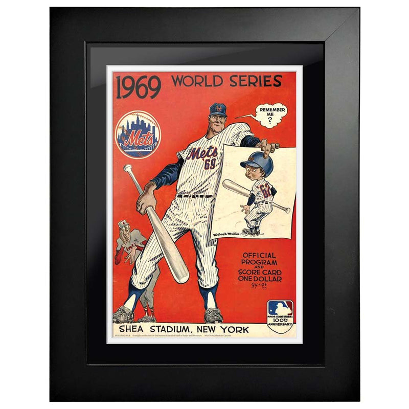 "12""x16""  New York Mets, Baltimore Orioles World Series Program Cover 1969"