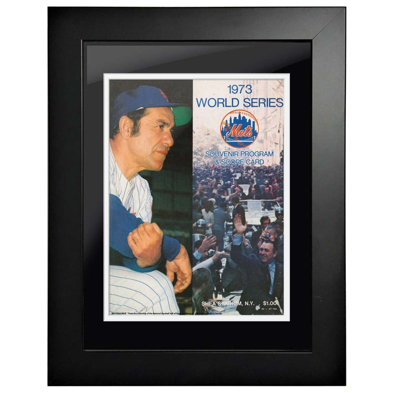 "12""x16""  New York Mets, Oakland Athletics World Series Program Cover 1973"