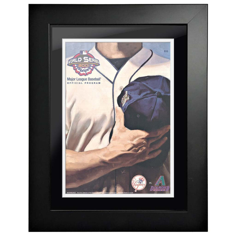 "12""x16""  New York Yankees, Arizona Diamondbacks World Series Program Cover 2001"