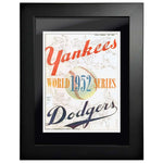 "12""x16""  New York Yankees, Los Angeles Dodgers World Series Program Cover 1952"