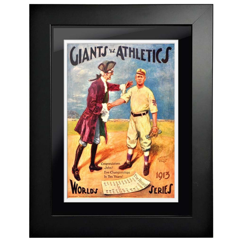 "12""x16""  Oakland Athletics, New York Giants World Series Program Cover 1913"