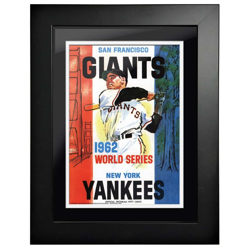 "12""x16""  San Fransico Giants New York Yankees World Series Program Cover 1962"