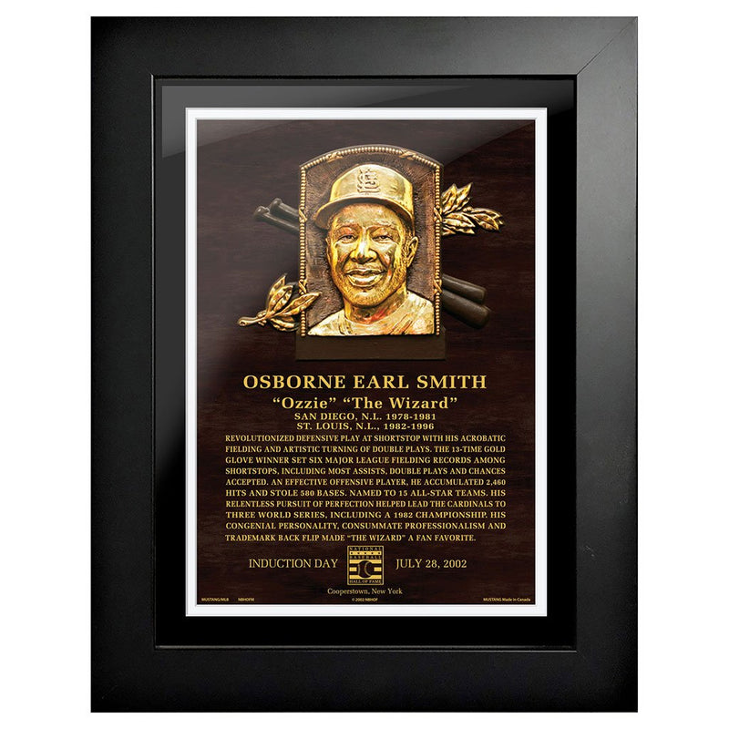 "Ozzie Smith Legend 12""x16"" Framed Art St. Louis Cardinals"