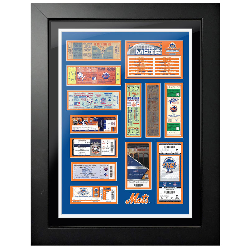 "18""x24"" Framed New York Mets World Series Ticket To History"
