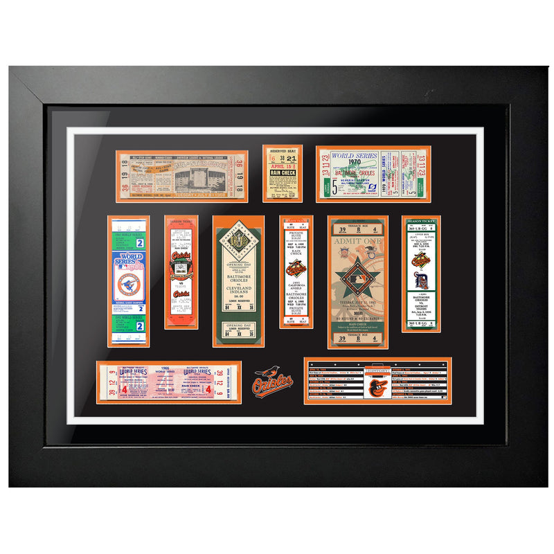 "18""x24"" Framed Baltimore Orioles World Series Ticket To History"