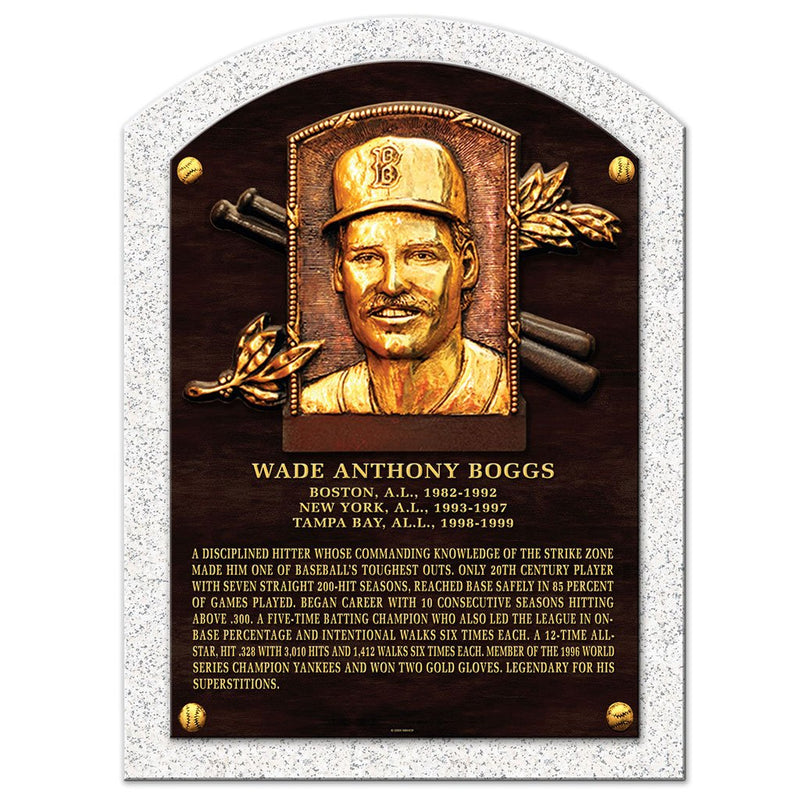 "Wade Boggs Legend 10""x14"" Plaque Boston Red Sox"