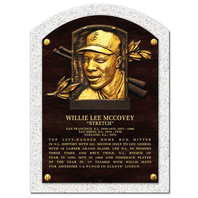 "Willie McCovey Legend 10""x14"" Plaque San Francisco Giants"