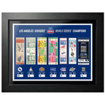 2020 World Series Tickets to History Photo (Size: 18x24) Framed
