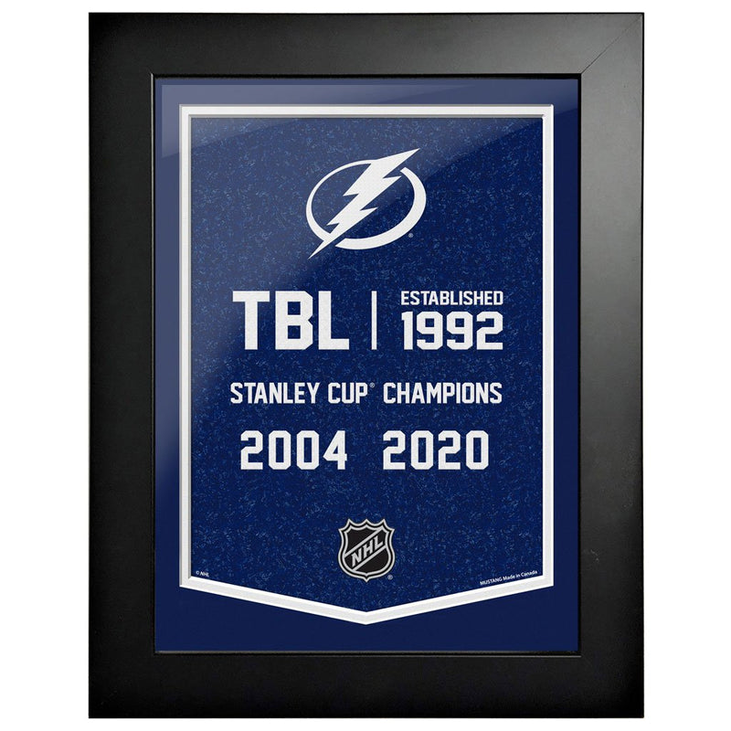 Tampa Bay Lightning 12 x 16 Empire Framed Sign
