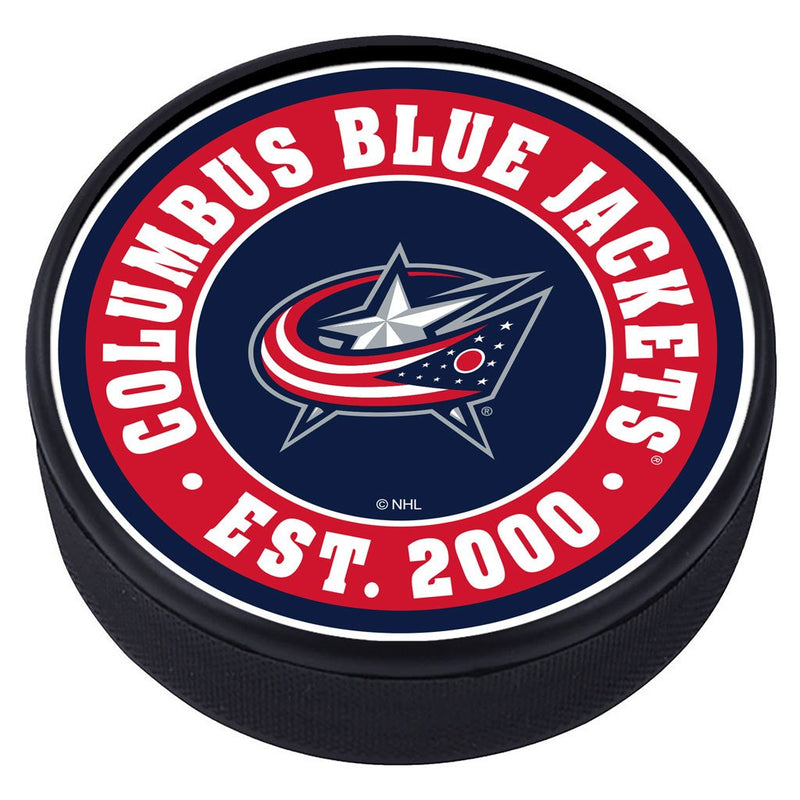 Columbus Blue Jackets Established Textured Puck