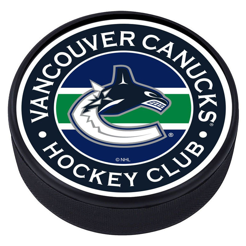 Vancouver Canucks Striped Textured Puck