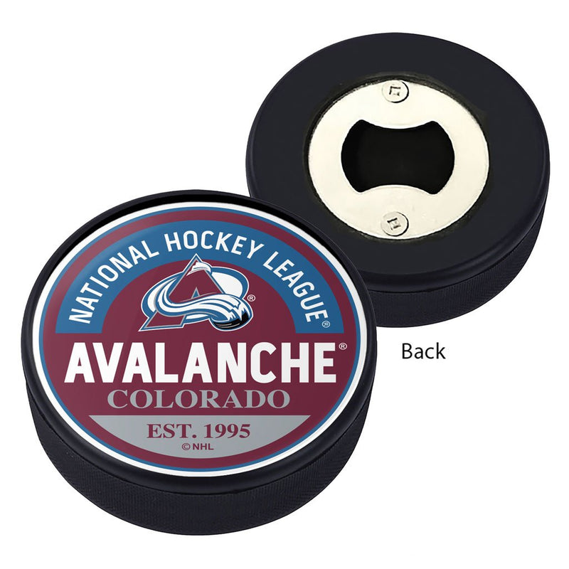 Colorado Avalanche Block Textured Puck Opener