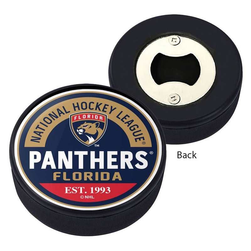 Florida Panthers Block Textured Puck Opener
