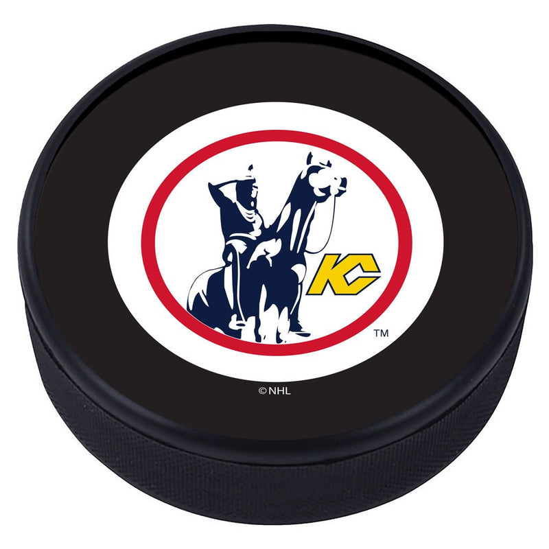 Kansas City Scouts Vintage Classic Textured Puck - Primary