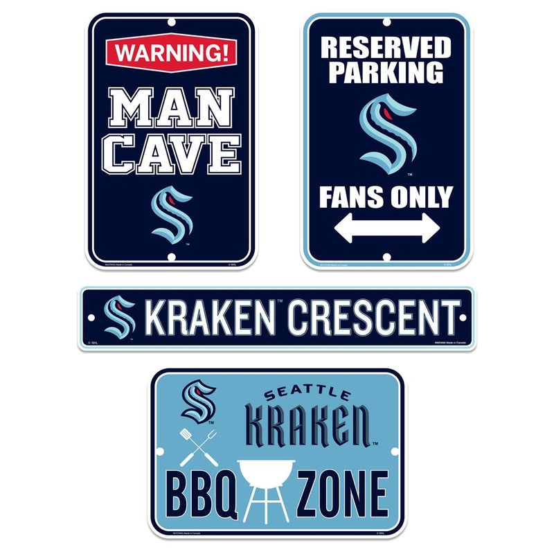 Seattle Kraken Fan Four Pack Sign Set